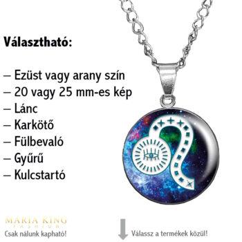Horoszkóp, Oroszlán – feliratozható medál lánccal, karkötő, fülbevaló, gyűrű, kulcstartó