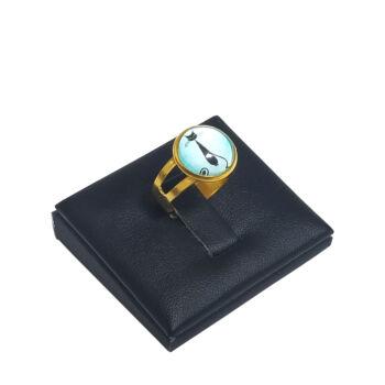 Fekete-cica-üveglencsés-gyűrű-választható-arany-és-ezüst-színben