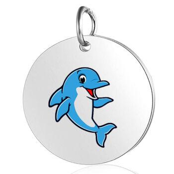 delfines-medál-lánccal-vagy-kulcstartó