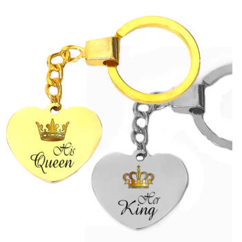 Páros-her-king-his-queen-kulcstartó