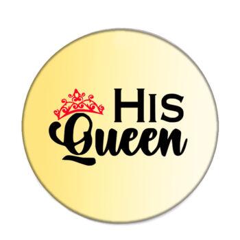 his-queen-acél-kitűző