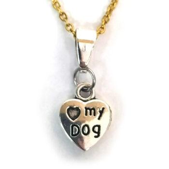 Love my dog-medál-választható-láncra-vagy-karkötőre-kulcstartóra
