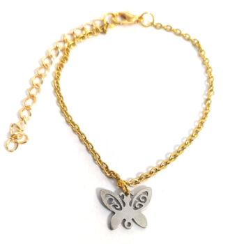 Rozsdamentes acél pillangó -medál-választható-láncra-vagy-karkötőre