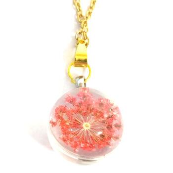 Piros virág-medál-választható-láncra-vagy-karkötőre-kulcstartóra