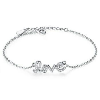 Ezüst 'LOVE' feliratos karkötő