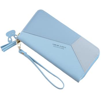 Divatos geometrikus mintás női pénztárca, kék