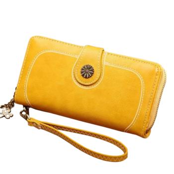 Gyönyörű dizájnbőr női pénztárca, sárga