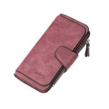 Dizájn bőr divat női pénztárca, lila