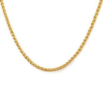 VNOX arany színű nemesacél nyaklánc, 50 cm
