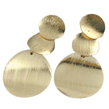arany színű lapos körökből álló fülbevaló