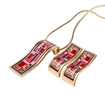 From Maria King Dubai Gold aranyozott exkluzív nyaklánc és fülbevaló szett