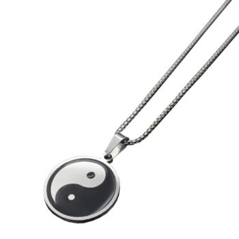 Yin Yang nemesacél nyaklánc medállal