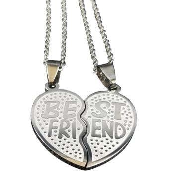 Nemesacél 'Best friends' kettős medál nyaklánccal - prémium 2., ajándékdobozzal