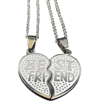 'Best friends' kettős medál nyaklánccal