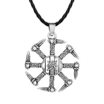 Viking nonfiguratív medál bőr nyaklánccal
