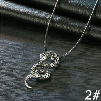 Kígyó medál műbőr nyaklánccal