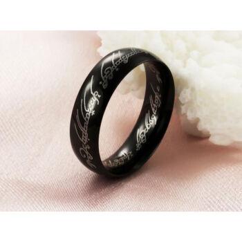 Gyűrűk ura gyűrű fekete nemesacél gyűrű, 8