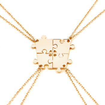 Család- vagy barátság - 4 részes nyaklánc, arany
