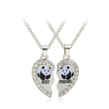 Legjobb barátok - pandás páros nyaklánc
