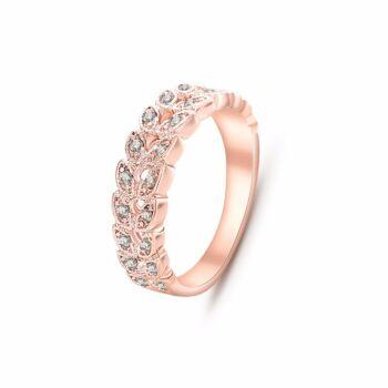 Rose gold gyűrű, cirkónium kövekkel kirakott, több méretben