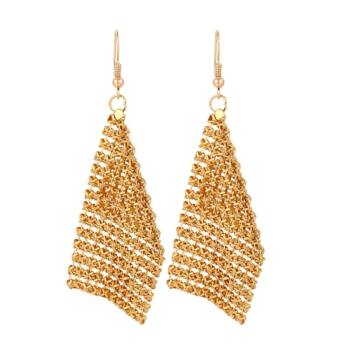 From Maria King hosszú láncos fülbevaló, arany színű