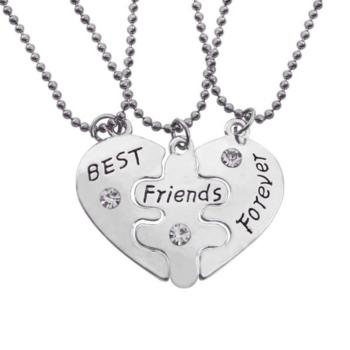 """Legjobb Barátok Örökké, """"Best friends forever"""" hármas nyaklánc (vagy karkötő)"""