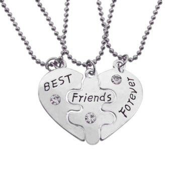 """Best friends forever"" hármas nyaklánc"