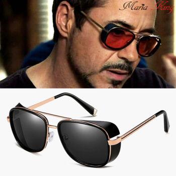 oldalkeretes napszemüveg, fekete