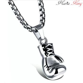 Nemesacél bokszkesztyű medál nyaklánccal, ezüst színű