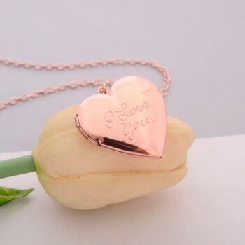 rose szív képtartó