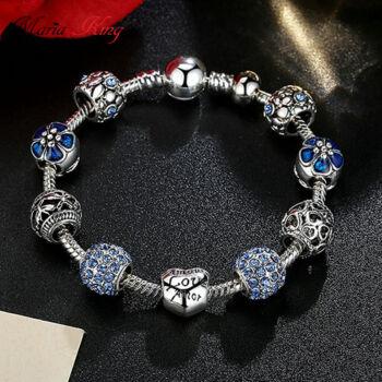 Pandora stílusú Charm karkötő,