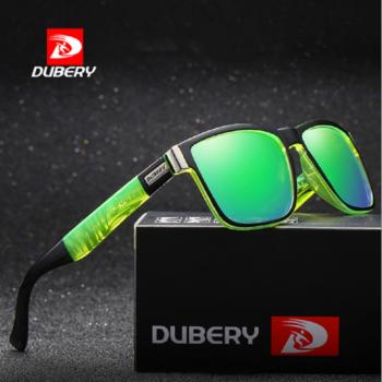 DUBERY polarizált férfi napszemüveg, zöld tükörlencse, zöld mintás szárral