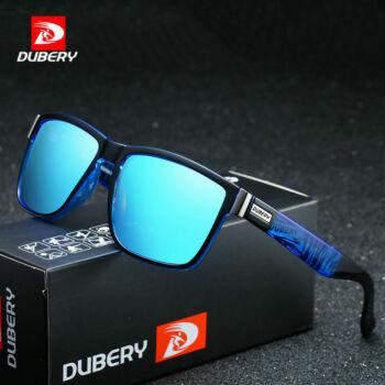 DUBERY polarizált férfi napszemüveg, kék tükörlencse, kék mintás szárral