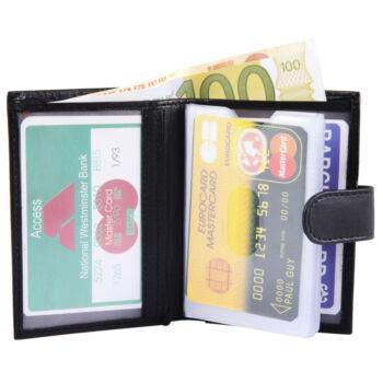 Excellanc hitelkártyatartó, valódi bőr (8x10 cm)