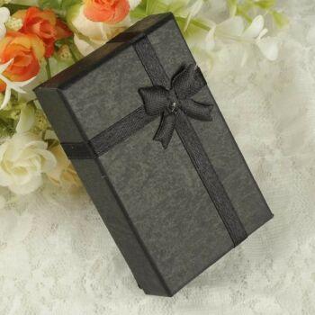 Fekete masnis ajándék ékszerdoboz
