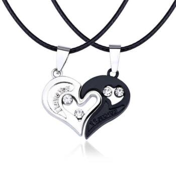 fekete-ezüst szív