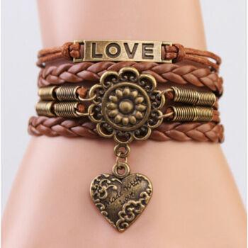 LOVE infinity többrétegű karkötő