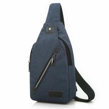 Kicsi, kényelmes uniszex vászon hátizsák (30x6x16 cm), kék