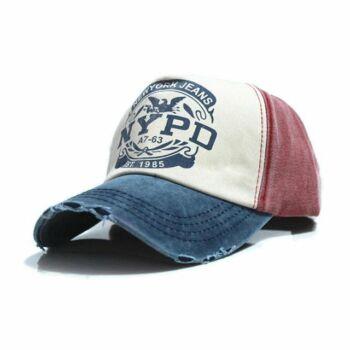 Trendi vászon baseball sapka, sötétkék, NYPD New York Jeans