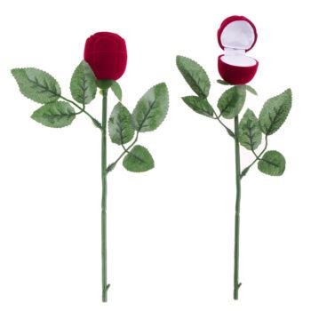 Exkluzív rózsa formájú dobozka ékszerhez, nagyon extra
