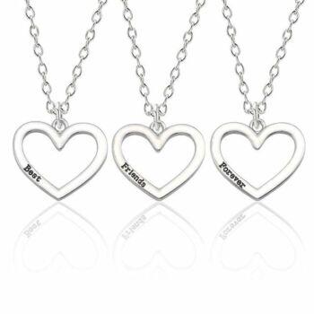 hármas nyaklánc szív medállal