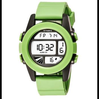 Synoke ABS műanyag szíjas digitális military sport karóra, zöld
