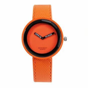 WoMaGe cseppálló színes női karóra, narancssárga