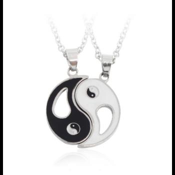 Yin Yang best friends páros nyaklánc