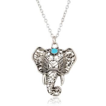 Elefánt fej medálos nyaklánc