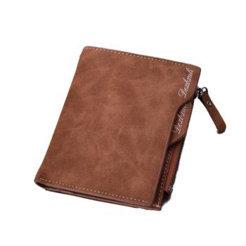 Vízlepergető férfi pénztárca, barna
