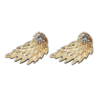 Angyalszárnyas fülbevaló, arany színű