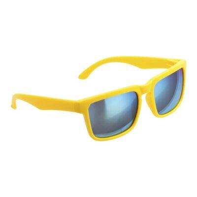 Tükörlencsés klasszikus fazonú uniszex napszemüveg (sárga), uv 400