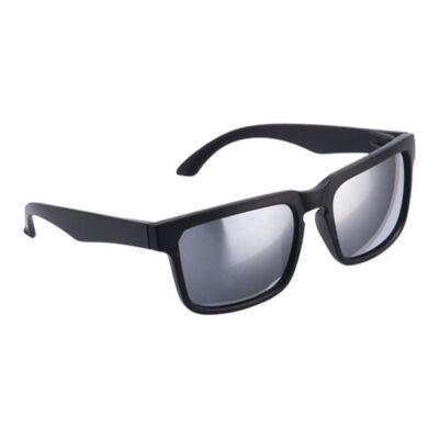 Tükörlencsés klasszikus fazonú uniszex napszemüveg (fekete)