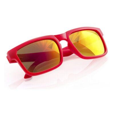 Tükörlencsés klasszikus fazonú uniszex napszemüveg (piros)